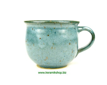 Ceramic Cup small bulge Green