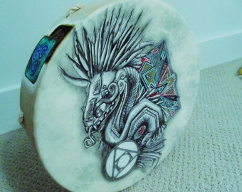 14 inch buffalo  Vegan Shaman Drum