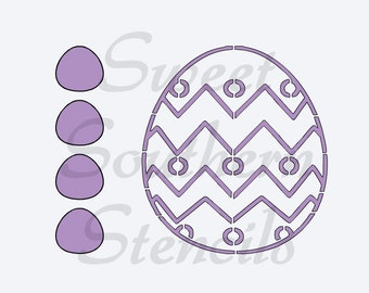 PYO Easter Egg #1 Cookie Stencil