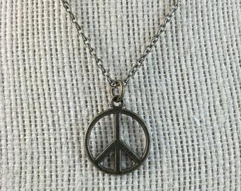 Peace Pendant - Peace Symbol Pendant - Peace Necklace Chain