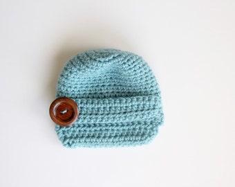 Baby Blue Newsboy Cap