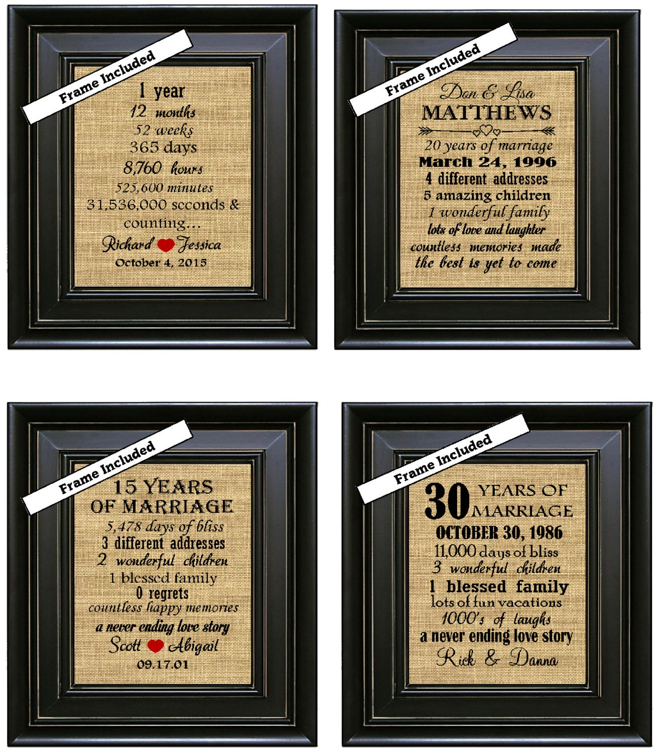 framed 50th wedding anniversary 50th anniversary gifts 50th. Black Bedroom Furniture Sets. Home Design Ideas