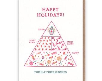 Elf Holiday Card // Letterpress