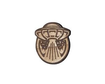 UFO Laser Cut Lapel Pin