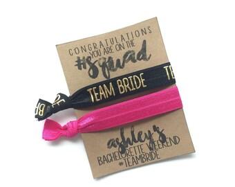 SQUAD Team Bride Hair Ties Elastics | Bachelorette| Bridal Party