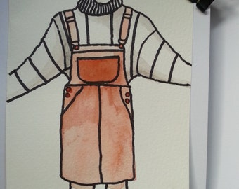 Lady in pinafore