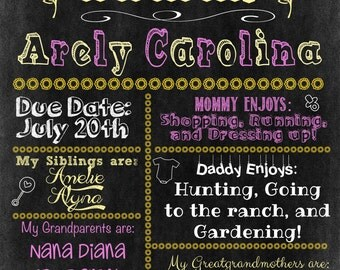 Baby Shower / New Baby Personalized Sign