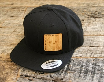 Artist Series 001-Limited Edition Collaboration With Ten Hundred: Original Art Laser Engraved Onto Bamboo  + Stitched On Black Snapback