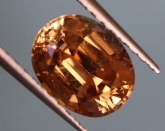 5.35 ct Honey Yellow ZIRCON - Beautiful color!