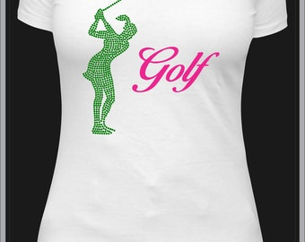 Real Women Golf in Rhinestones & Vinyl