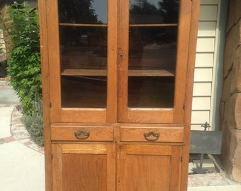 Antique Wood Pie Safe Jelly Cabinet
