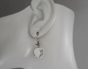 Sterling Silver Heart Earrings Heart Jewelry Made in Montana Fine Jewelry Birthday Gift for Girls Valentine's Day Gift