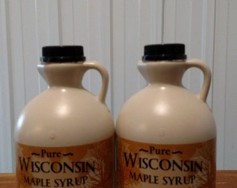 Pure Wisconsin Maple Syrup Qty 2 Half Gallons
