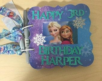 Frozen inspired birthday album