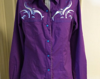 Purple Western Shirt, size S