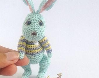 Tiny Rabbit Amigurumi Crochet Doll Made to Order