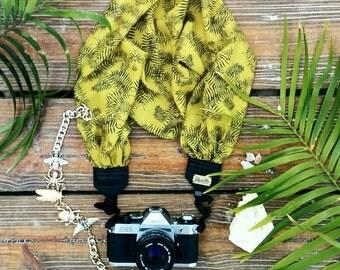 Hand-made camera strap Fern