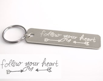Actual Handwriting Silver Key Chain, Handwriting Key Chain, personalized keychain, Signature Jewelry, Personalized Gift Idea for boyfriend