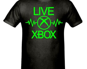 Live xbox  t shirt, boys t shirt sizes 5-15 years,children's gamer t shirt