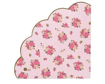 Napkins | Floral Napkins | Pink Napkins | Paper Napkins | Party Napkins | Tea Party | 20 Per Pack | Wedding Napkins | Baby Shower Napkins