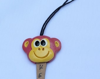 Monkey Key Cover, key case, key holding, clay handmade, clay art, monkey clay, clay key cover, animal clay