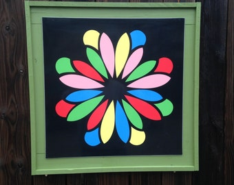 Quilt inspired outdoor sign
