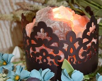 Scallop and Lace Himalayan Salt Lamp