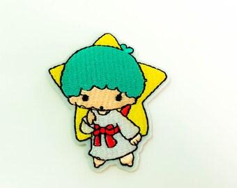 Kiki Sanrio Cartoon Character Iron on Patch(M2), Sanrio Cartoon Applique Embroidered Iron on Patch Size 5.5x6.6 cm