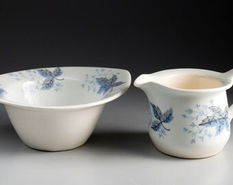 Figgjo Flint. Norway - Sugar Bowl and Creamer