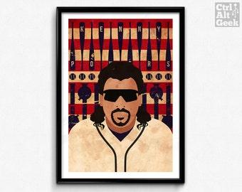 Kenny Powers // Eastbound & Down // Danny McBride Poster, Geek Art, TV Print, TV Poster, Minimalist Print. Baseball Print