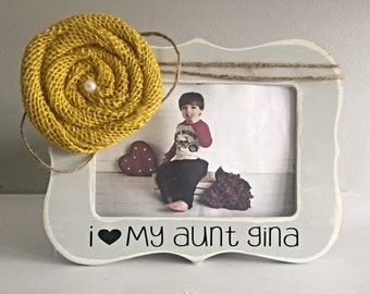 Aunt Gift Present for Aunt Gift for Aunt I Love My Aunt Picture Frame 4x6 Opening