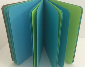 Blue Lagoon 24lb Paper Traveler's Notebook Insert- ALL Sizes, Including B6, B6 Slim, Personal, & A6! Choose Your Cover Color!