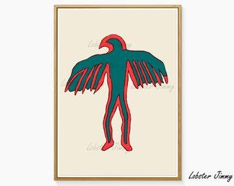 Birdman, Native American Indian Symbols, Wabino Odschibwa Vocal Writing, Indian Art, Native Americans, Printable Art, Instant Download
