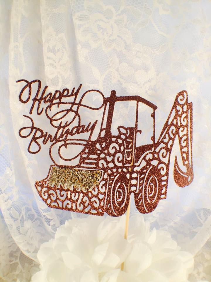 Backhoe Cake Topper