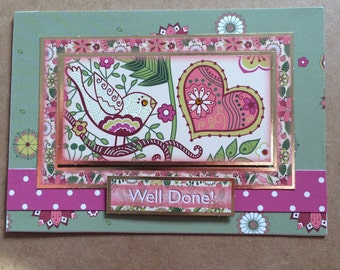Handmade Card 'Well Done'