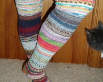 Combo Leg Warmer/Thigh High Socks for Circular Sock Machine (CSM) Pattern