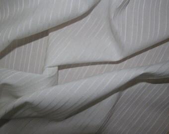 White Striped Fabric Dress/Craft Fabric