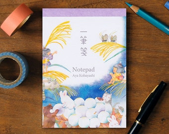 Notepad -Flowers and animals of four seasons- 40 sheets.