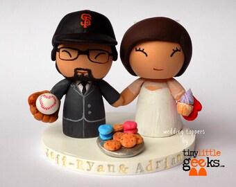 Baseball and cake maker wedding cake topper
