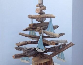 1ft round base driftwood christmas tree