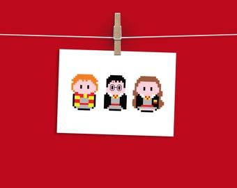 8-Bit Character A4 Print
