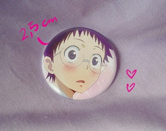 onoda sakamichi yowapeda yowamushi pedal otaku cute shoujo kawaii anime manga pink badge pin button