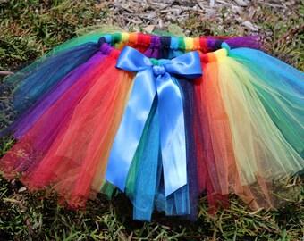 Rainbow Tutu Skirt - newborn baby girl toddler child 6 12 24 months 1 2 3 4 years