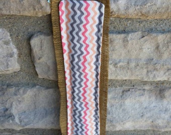 Yardstick holder burlap