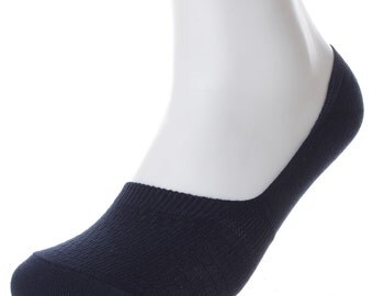 Soxmile Mens No Show Socks for Big and Tall Men - Links Navy