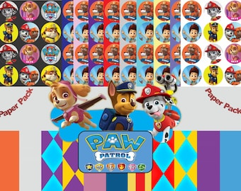 Paw Patrol, Paw Patrol Inspired Digital Paper Pack - 30 Papers - Size 12x12 - Printable Paper- Digital Scrapbooking - CLIPART INCLUDED