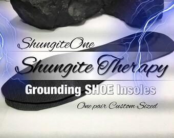 Shungite Grounding Shoe Inserts. (ShungiteOne EXCLUSIVE) GROUNDING Insoles. Harmonizing Shoe inserts. One Pair (Item SI-501)
