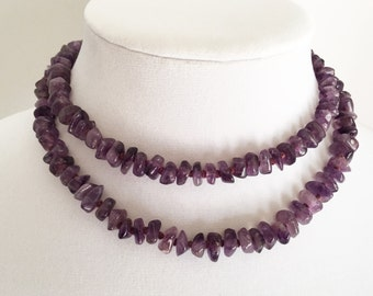 Vintage Genuine Amethyst Necklace *February Birthstone*