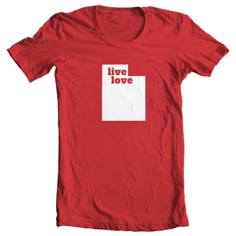 Utah T-shirt - Live Love Utah - My State Utah T-shirt
