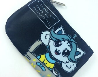 UNDERTALE - Temmie Chibi Print Coin Purse (Give Tem money for colleg!)